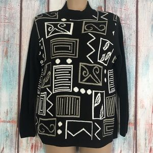 💎 Alfred Dunner Geometric Sweater PS